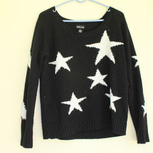 Black and White Sweater with Stars